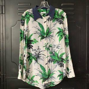 Equipment Floral 100% Silk Top, Sz. S